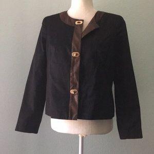 Jackets & Blazers - Dark Blue and Brown Blazer 8PE